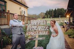 Bride & groom drew and sally sgin