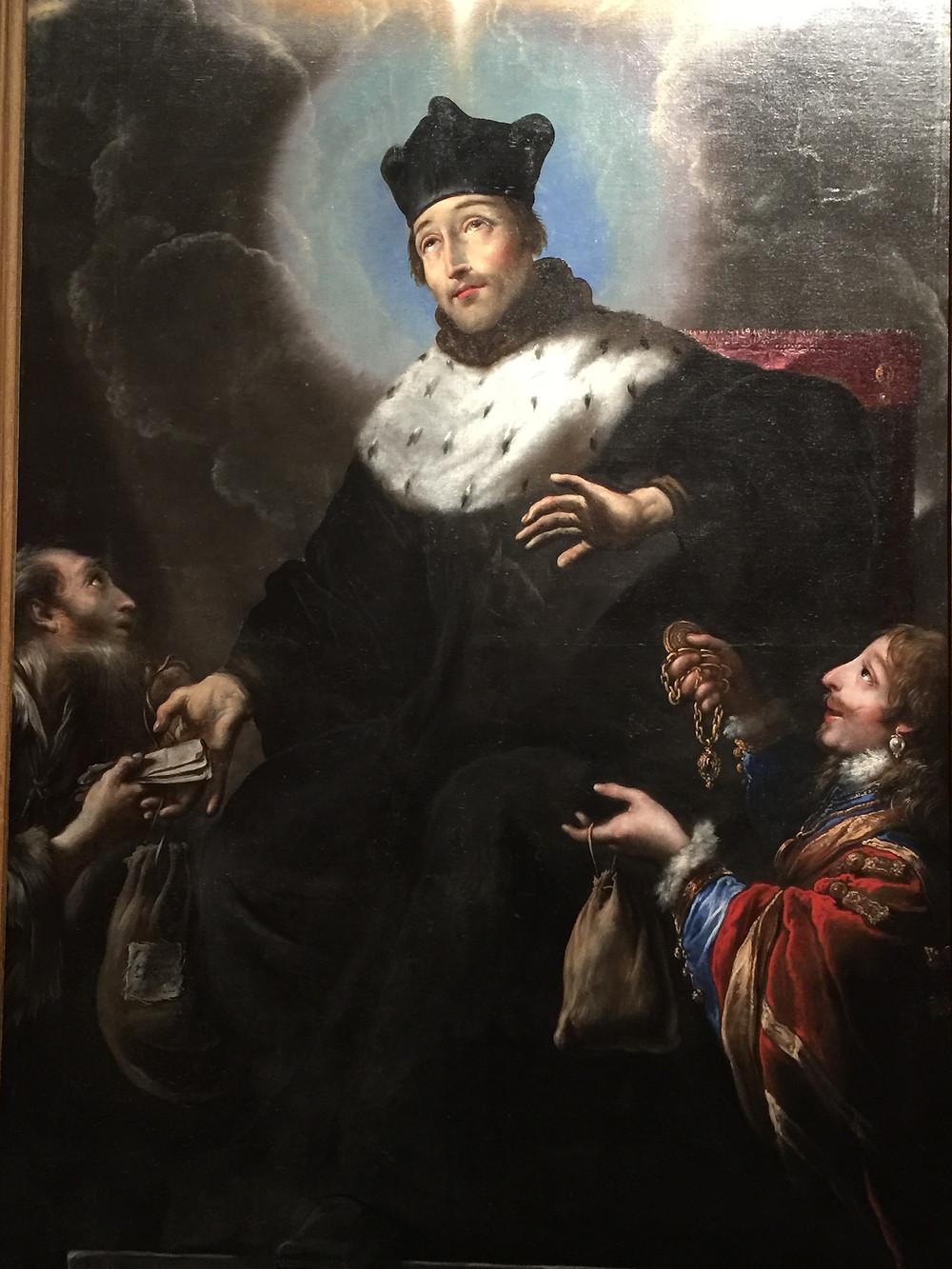 Gemälde von Saint Yves zwischen dem Reichen und dem Armen