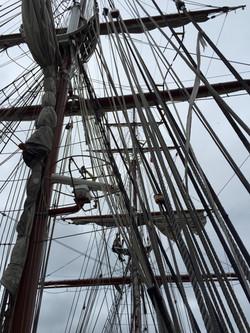 Takelage im Hafen
