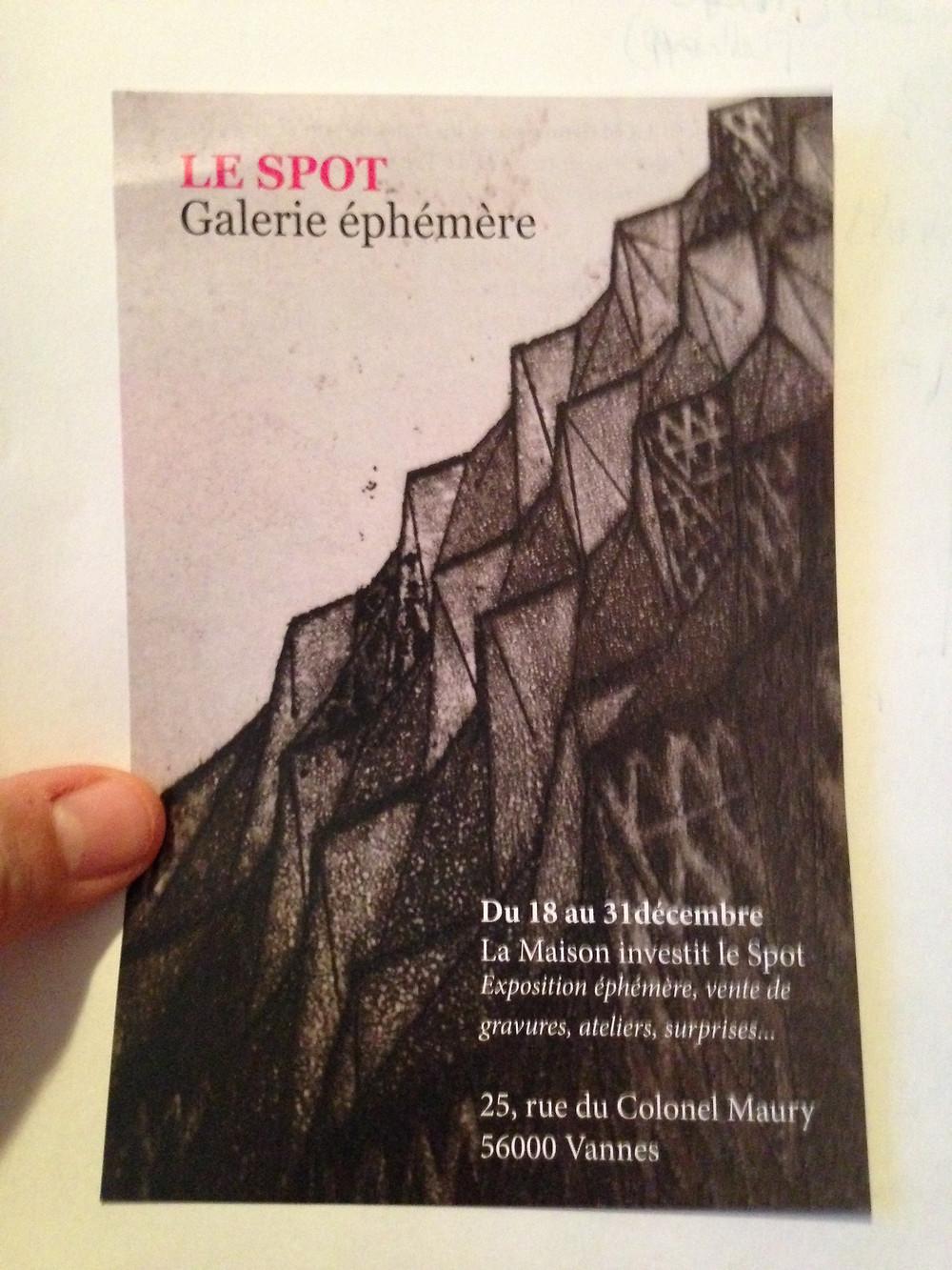 Le Spot- Galerie ephemere in Vannes