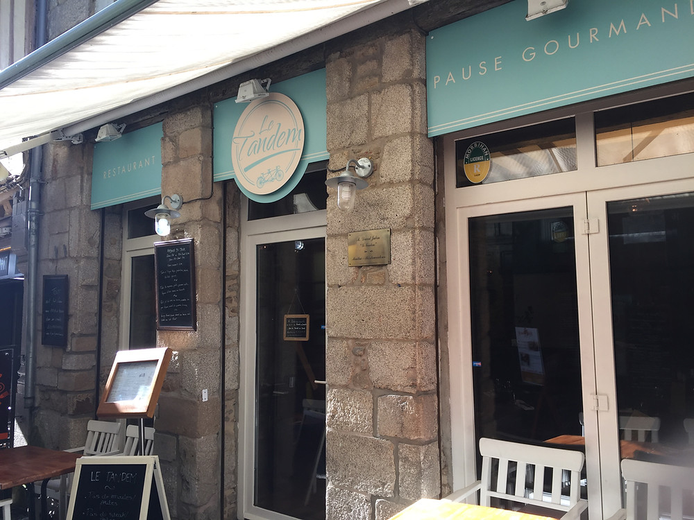 Aussenfassade Le Tandem Restaurant in Vannes