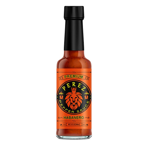 Autographed Perez Pepper Sauce Bottle 'Habanero' Flavor