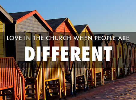 Love in the Church when People Are Different.
