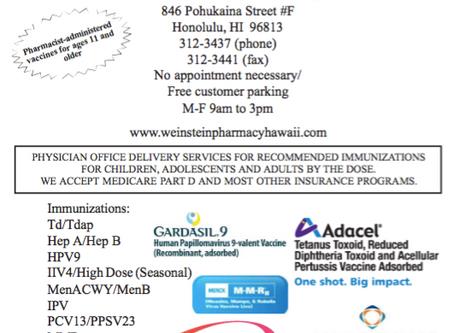Weinstein Pharmacy Immunizations