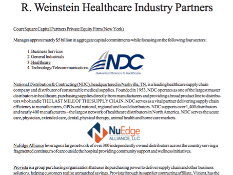 Weinstein Healthcare Industry Partners