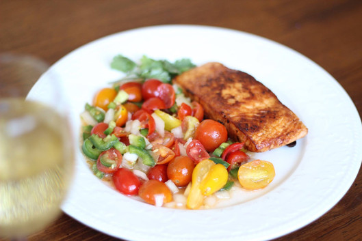 Pan Seared Salmon Recipe With Fresh Salsa