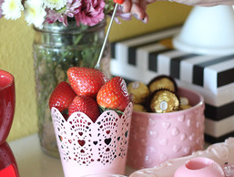 Candy Buffet Table Decor For Valentine's Day