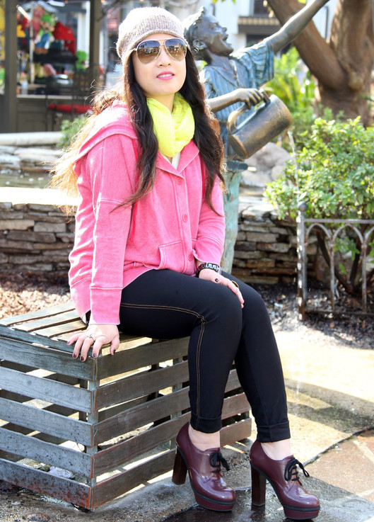 Rock The Day With Bold Color Hoodie