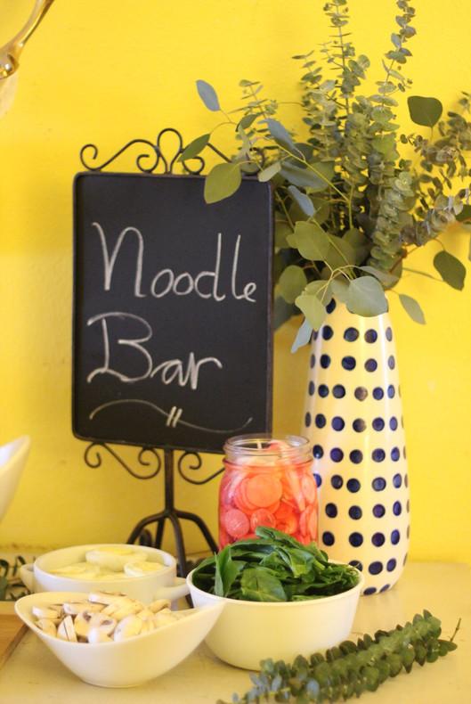 Build Your Own Noodle Bowl Party + Delicious Noodle Soup Recipe