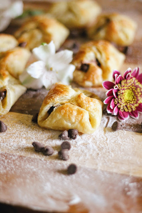 Chocolate Chips and Banana Cream Pastries