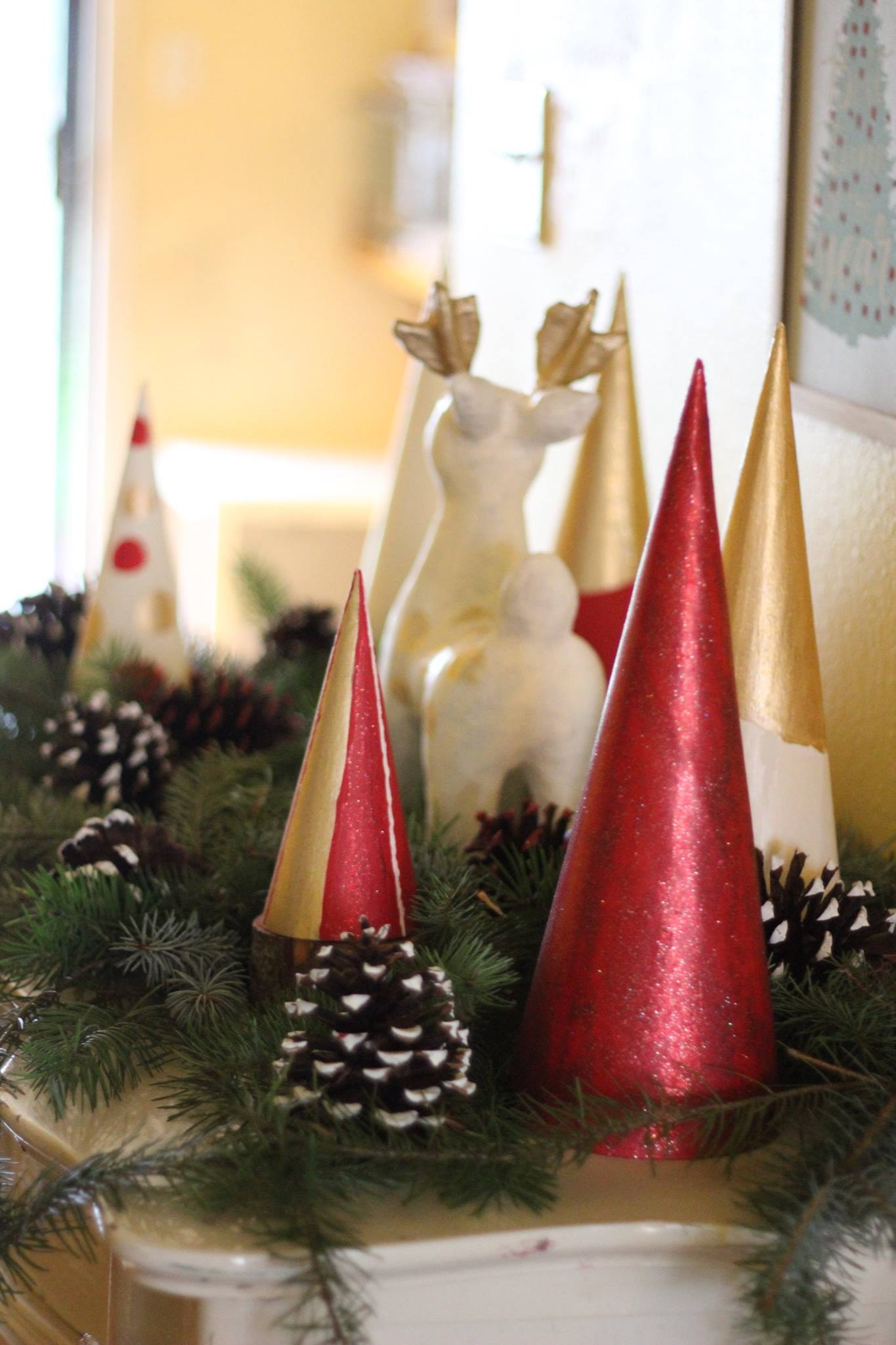 Paper Mache Christmas Decor