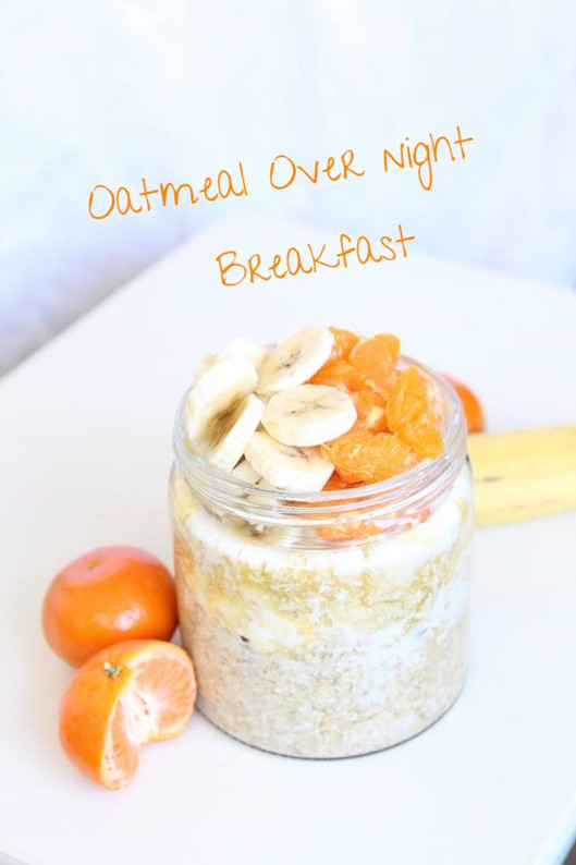 Tropical Oatmeal Overnight Breakfast