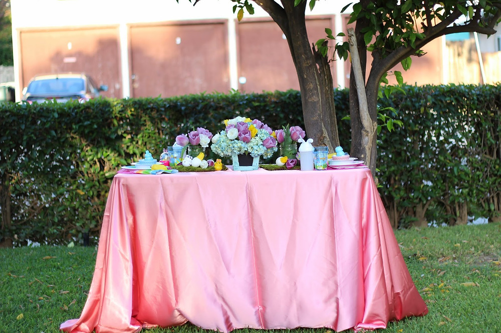 easter party table decor