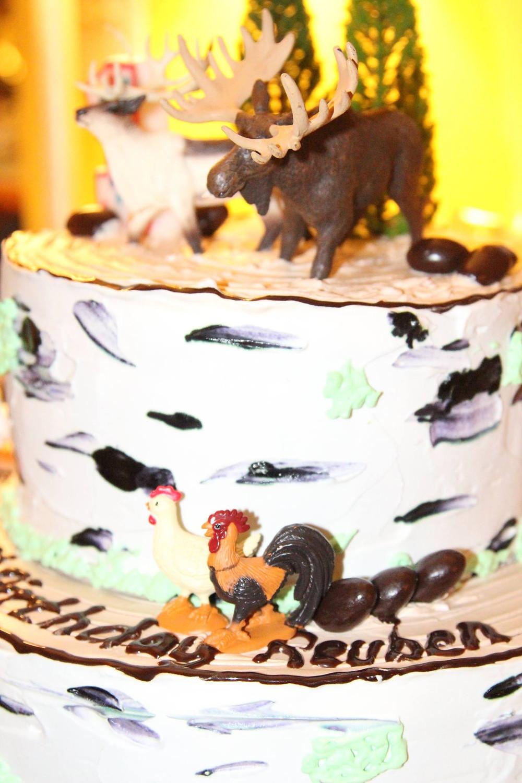 rustick birthday cake