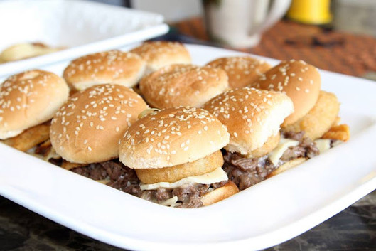 Super Delicious Philly Cheese Steak Slider