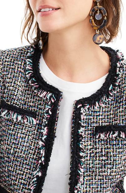 J Crew Lady Metallic Tweed Jacket