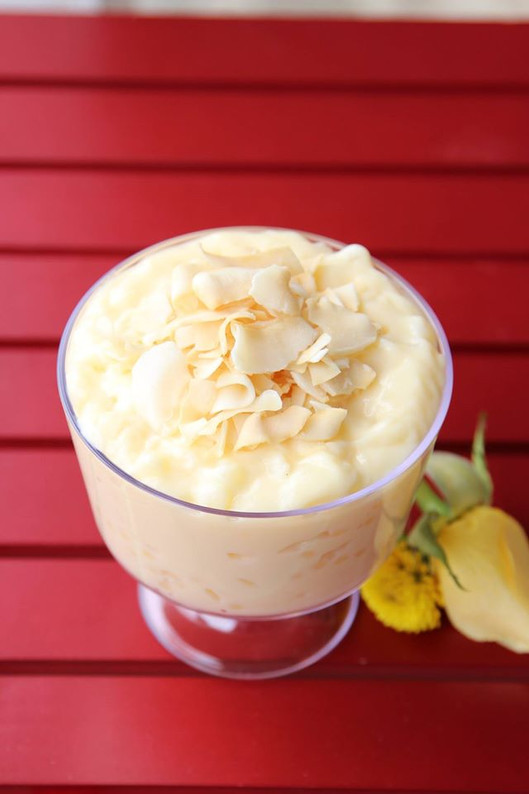Coconut Tapioca Pudding With Fresh Young Coconut Meat