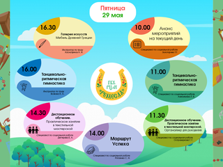 Анонс дистанционных онлайн - мероприятий на 29 мая 2020 года