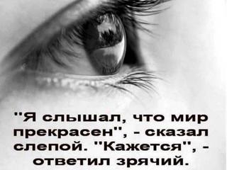 «Глаза не видят красок мира, зато их чувствуют сердца»