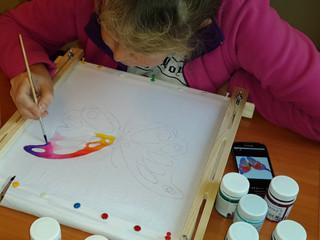 Искусство росписи по ткани.