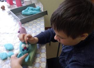 Как шерсть превращается в игрушки.