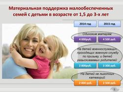 Государственная программа на Социальная поддержка жителей города Москвы (8)
