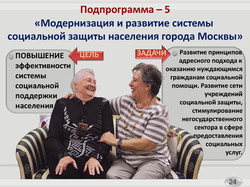 Государственная программа на Социальная поддержка жителей города Москвы (24)