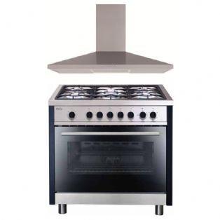 90 cm Oven + Stove top + range hood