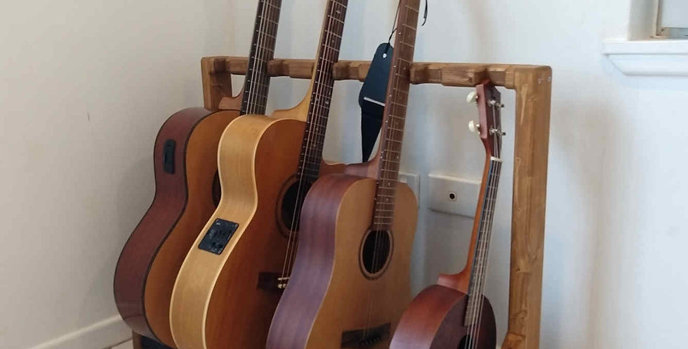 Premium 4 Guitar Rack with notched neck holder