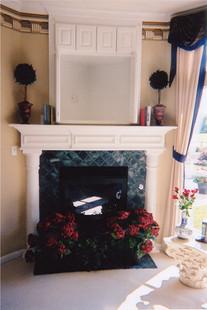 White Column Fireplace