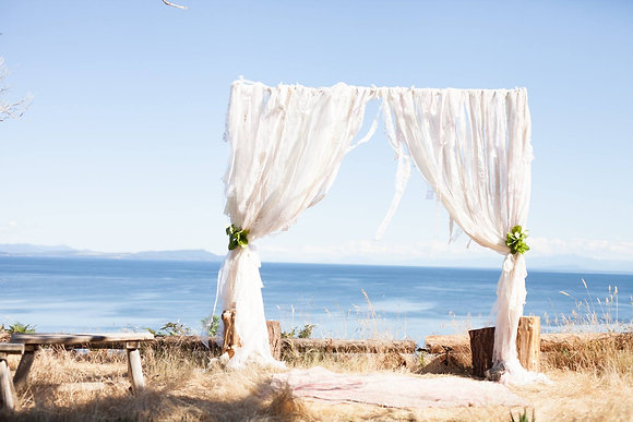 Shabby Chic Arch / Lace Backdrop