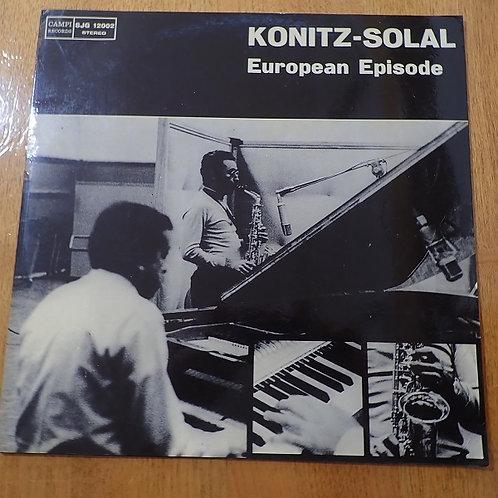貴重 イタリア原盤 KONITZ-SOLAL IMPRESSIVE ROME LP Lee Konitz Marshall Solal Quartet ■