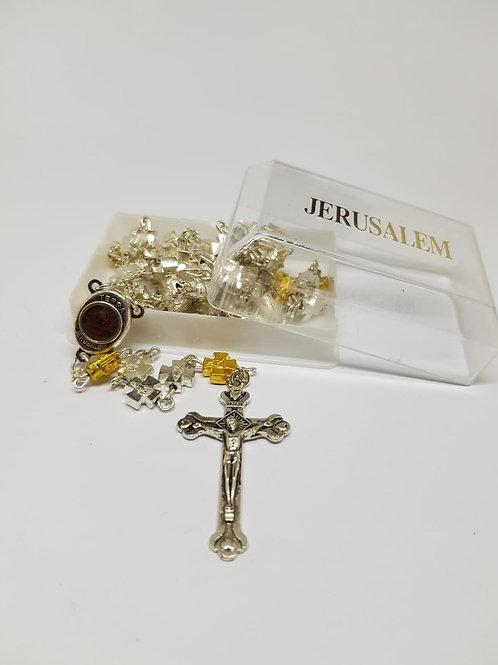 Metal cross rosary
