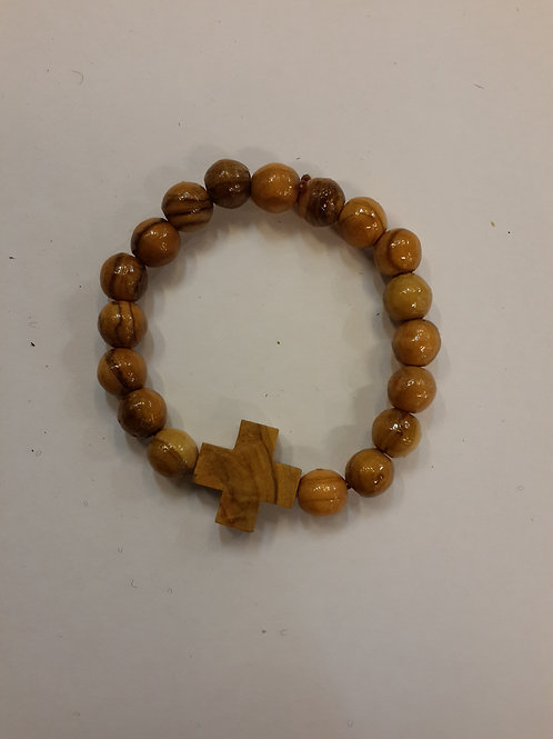 Olive wood with wooden cross Bracelet