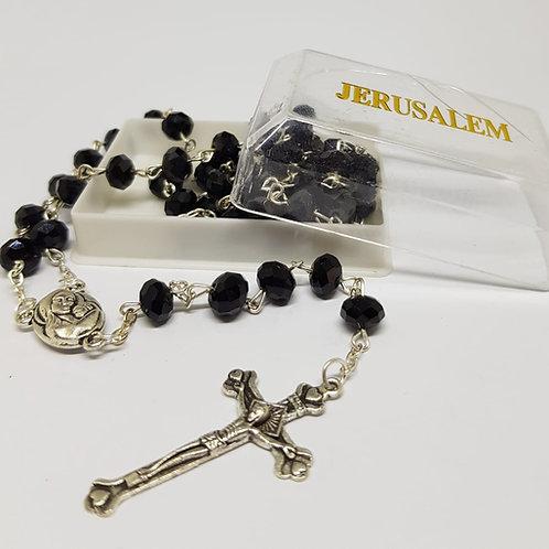 Black Crystal Rosary