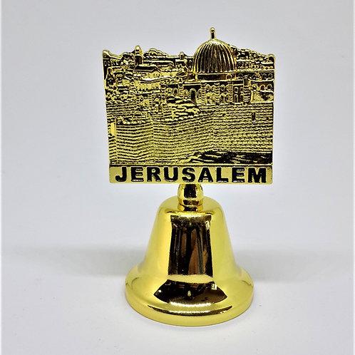 bell with Jerusalem panoramaview hand
