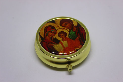 Medicine box with holy family icon