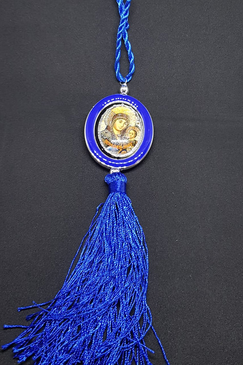 car pendant with icon blue