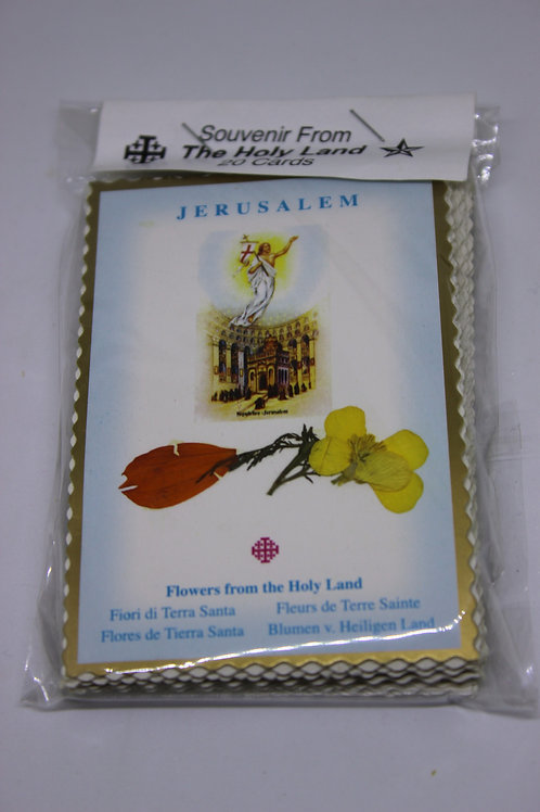 orginal flower card from holy land