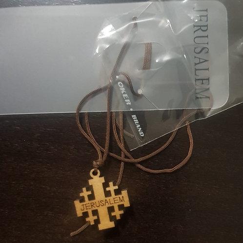 Jerusalem olive wood cross hand made in jerusalem12 piece/lot