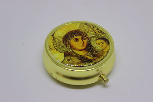 medicine box with virgin mary of bethlehem size 5cm