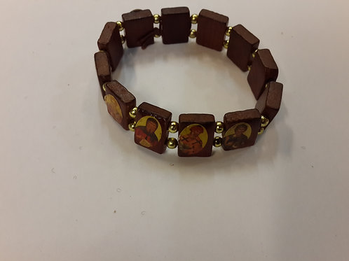 Wood bracelets with icons
