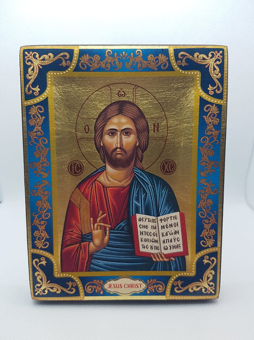 Jesus Christ Gold sheet icon size13*10cm top quality