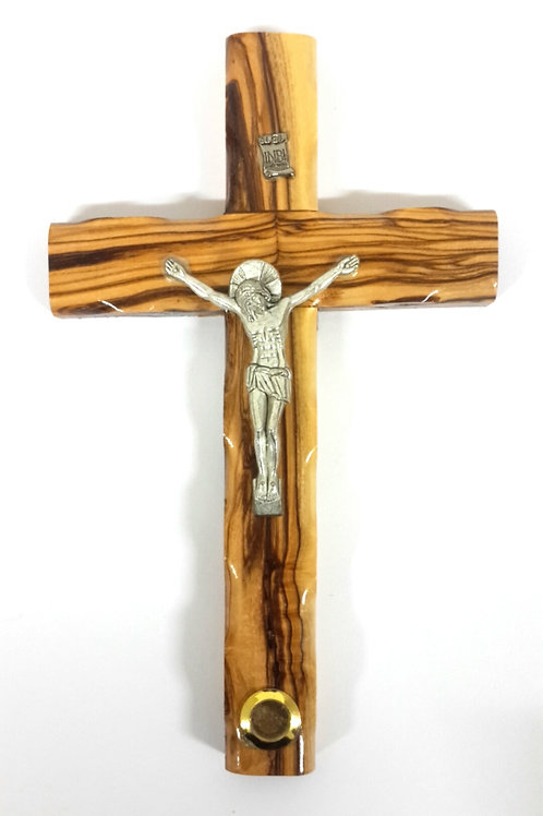 Olive wood cross with earth 20 cm PA114