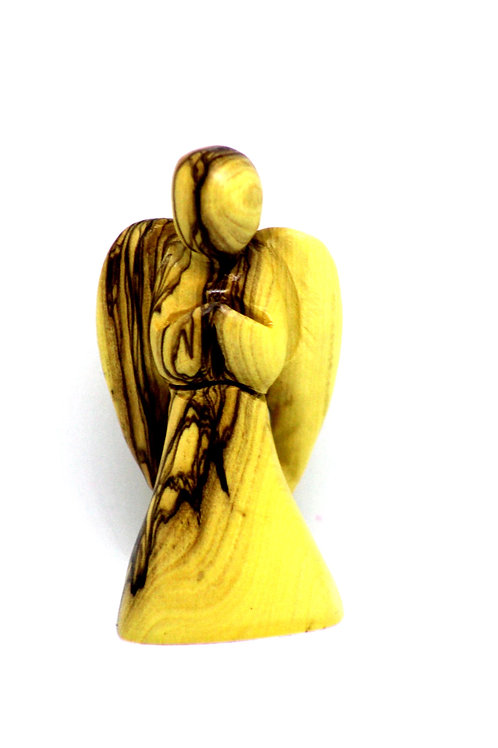 Angel staute made from olive wood 15cm
