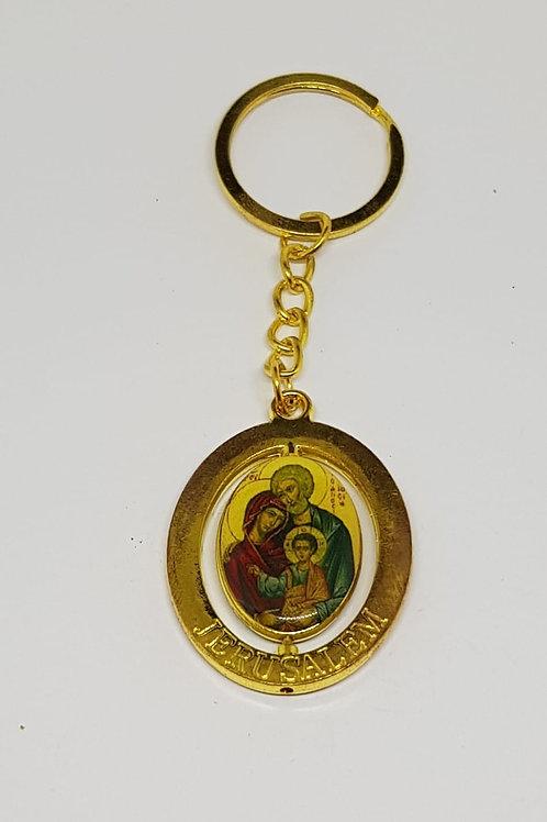 Holy family key chain