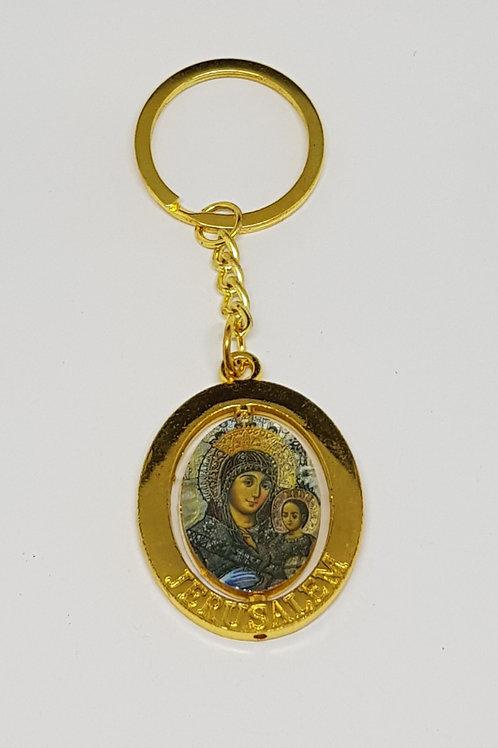 Virgin Mary of bethlehem keychain