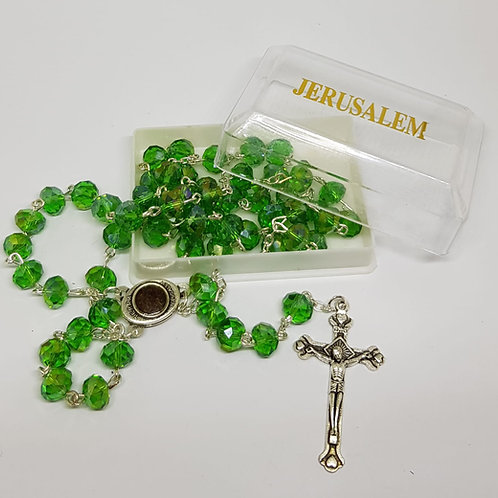 Green Crystl Rosary