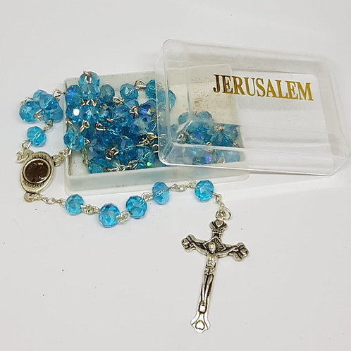 Baby Blue Crystal rosary