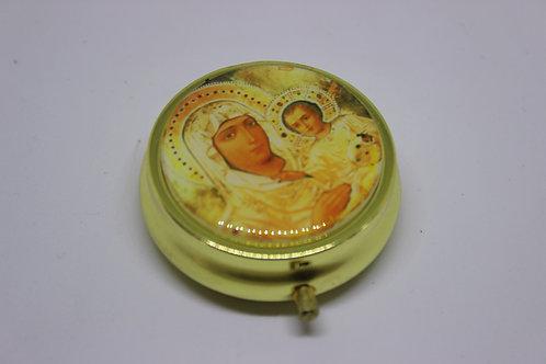 medicine box with virgin mary of jerusalem